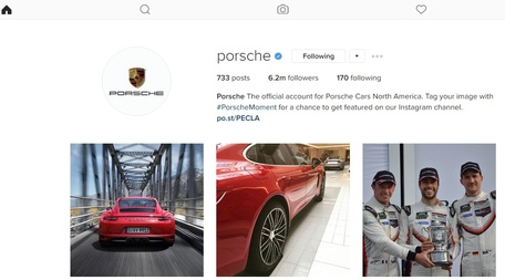 Instagram Porsche Club Motorsport